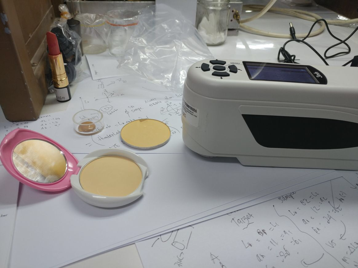 3nh NH310 colorimeter for cosmetics skin color tes